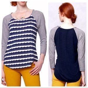 Anthropologie Jersey Knit New Wave Pullover Top